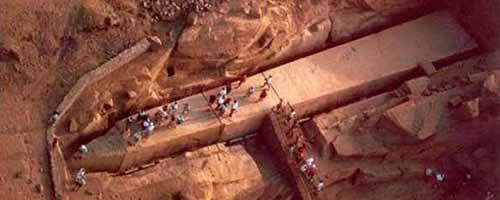 Vista al templo de Philae, Obelisco Inacabado y Alta Presa
