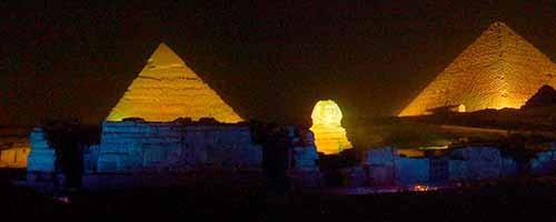 Espectáculo de luz y sonido en Pirámides de Guiza