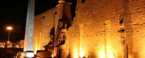 Espectáculo Sonido y Luz en el templo de Karnak